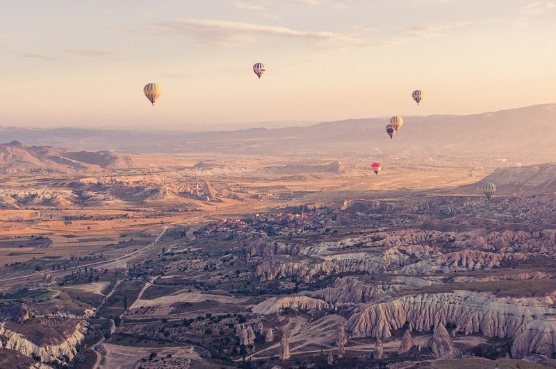 Koszt lotu balonem w Kapadocji