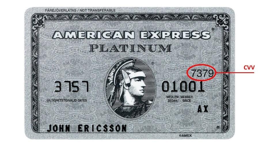cvv American Express
