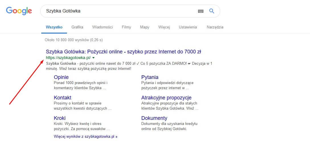 szybka gotowka google