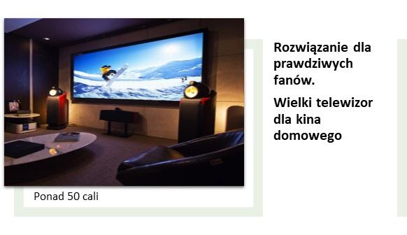 Przekątna ekranu i rozmiar telewizor