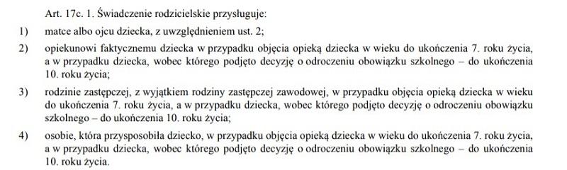 Ustaw z 2015 roku, pod pozycją 1217
