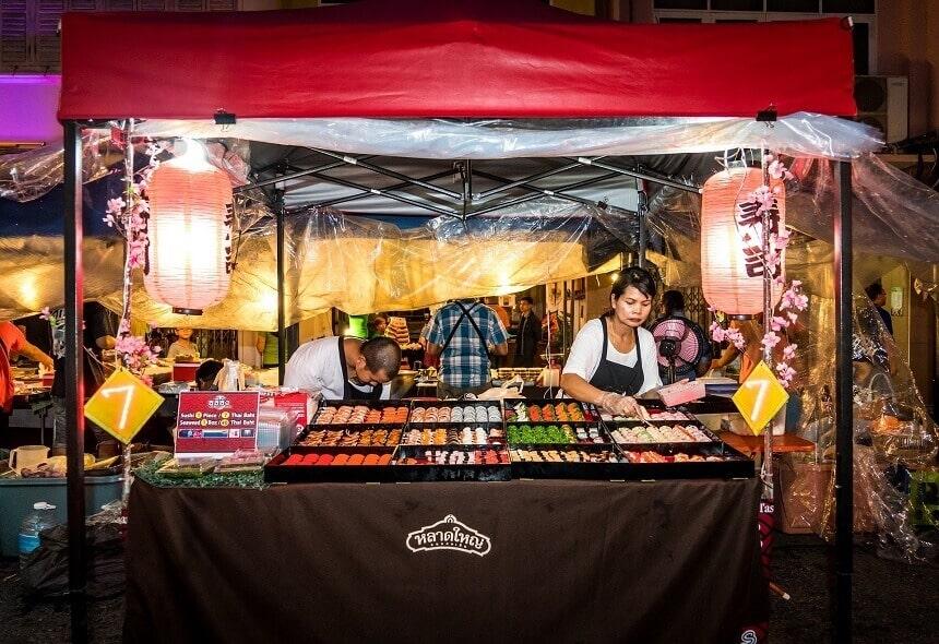 Ceny ulicznego jedzenia w Tajlandii