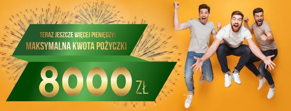 pożyczka od 20 lat na 8 000 zł